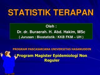 STATISTIK TERAPAN