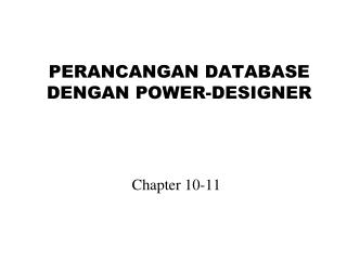 PERANCANGAN  DATABASE  DENGAN POWER-DESIGNER