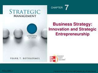 Business Strategy: Innovation and Strategic Entrepreneurship