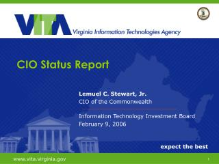 Lemuel C. Stewart, Jr. CIO of the Commonwealth Information Technology Investment Board