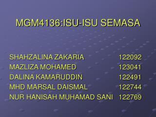 MGM4136:ISU-ISU SEMASA