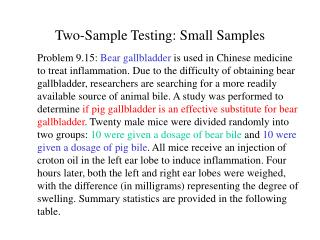 Two-Sample Testing: Small Samples
