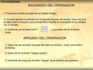ENCENDIDO DEL ORDENADOR