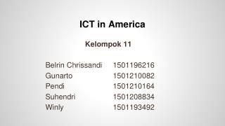 ICT in America