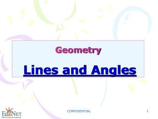 Geometry Lines and Angles