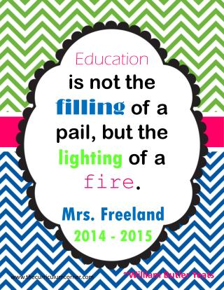 Education is not the  filling of a pail, but the  lighting of a  fire .