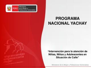 PROGRAMA NACIONAL YACHAY