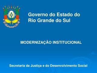Secretaria da Justiça e do Desenvolvimento Social