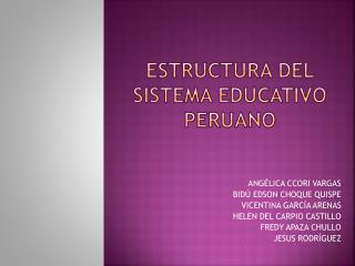 ESTRUCTURA DEL SISTEMA EDUCATIVO PERUANO