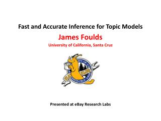 Fast and Accurate Inference for Topic Models