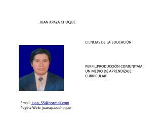 JUAN APAZA CHOQUE