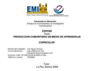 Doctorado en Educación Enfoque en la Complejidad y la Investigación Transdisciplinar