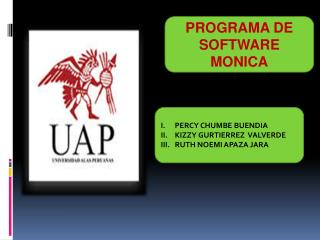PROGRAMA DE SOFTWARE MONICA