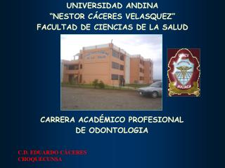 CARRERA ACADÉMICO PROFESIONAL  DE ODONTOLOGIA