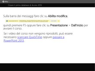 Creare il primo database di Access 2013