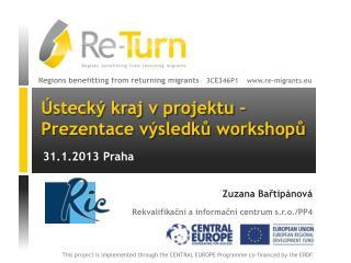 Ústecký kraj v projektu –  Prezentace výsledků workshopů