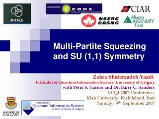 Multi-Partite Squeezing and SU (1,1) Symmetry