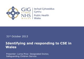 Identifying and responding to CSE in Wales