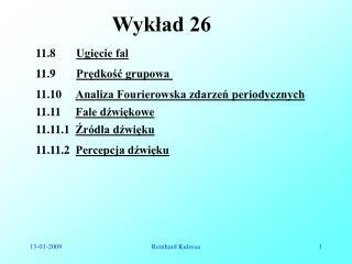 Wykład 26