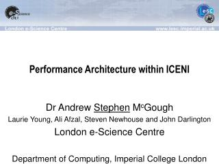 Performance Architecture within ICENI