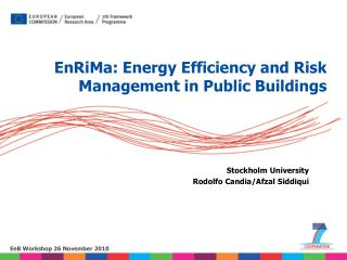 Stockholm University Rodolfo Candia/Afzal Siddiqui