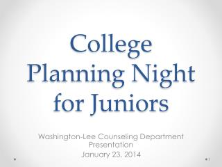 College Planning Night for Juniors