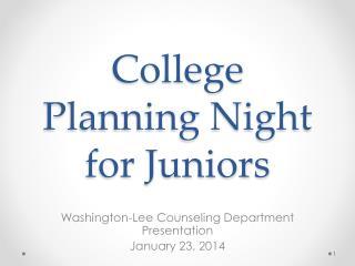 College Planning Night for Juniors