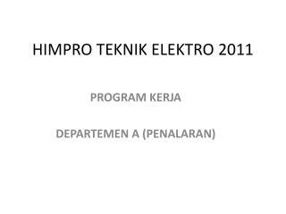 HIMPRO TEKNIK ELEKTRO 2011