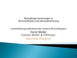Horst Müller Kanzlei Müller & Hillmayer mueller-hillmayer.de
