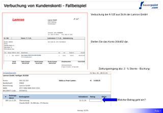 Verbuchung von Kundenskonti - Fallbeispiel
