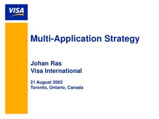 Multi-Application Strategy
