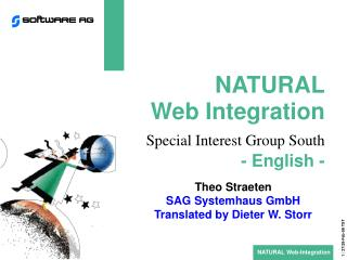 NATURAL Web Integration Special Interest Group South - English -