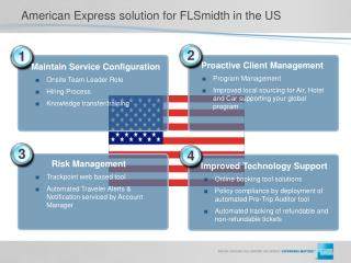 American Express solution for FLSmidth in the US