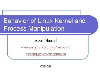 Behavior of Linux Kernel and Process Manipulation