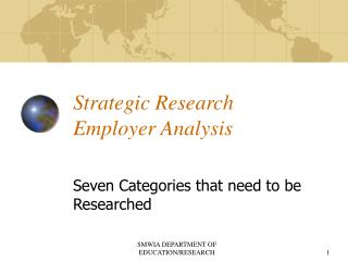 Strategic Research Employer Analysis