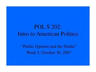 POL S 202: