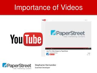 Importance of Videos
