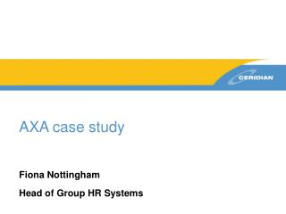 AXA case study