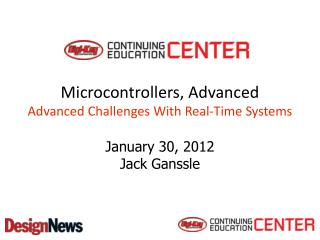 Microcontrollers, Advanced  Advanced Challenges With Real-Time Systems