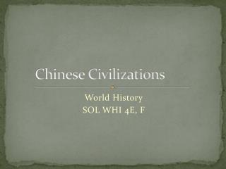 Chinese Civilizations