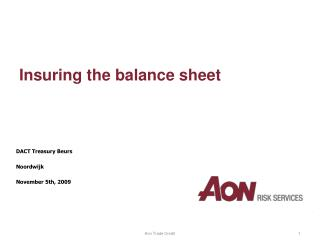 Insuring the balance sheet