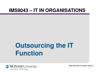 IMS9043 – IT IN ORGANISATIONS