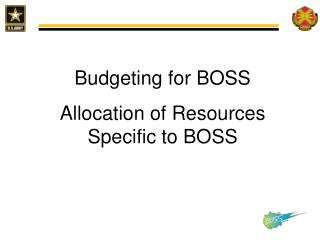 Budgeting for BOSS Allocation of Resources Specific to BOSS