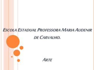 Escola Estadual Professora Maria Audenir de Carvalho. Arte