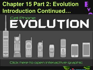Chapter 15 Part 2: Evolution Introduction Continued…