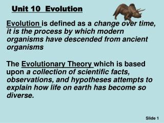 Unit 10  Evolution