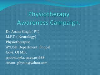 Physiotherapy  Awareness Campaign.