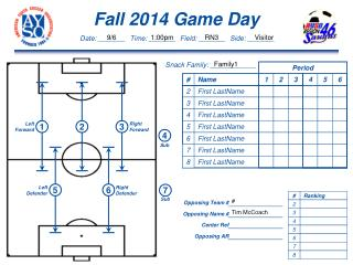 Fall  2014  Game  Day
