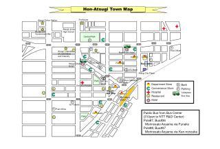 Hon-Atsugi Town Map