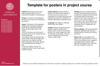 Template for posters in project course